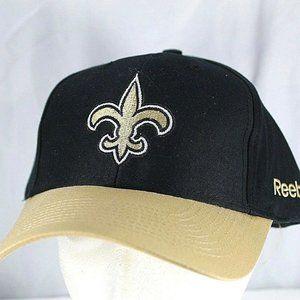 New Orleans Saints Black/Gold NFL Baseball Cap Adj